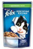 Felix, Кролик в желе Феликс Влажный корм кусочки (пауч) для кошек, 85г, фото 1