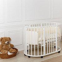 Кровать круглая-овальная Николь Белая (Мой малыш, Россия), фото 1