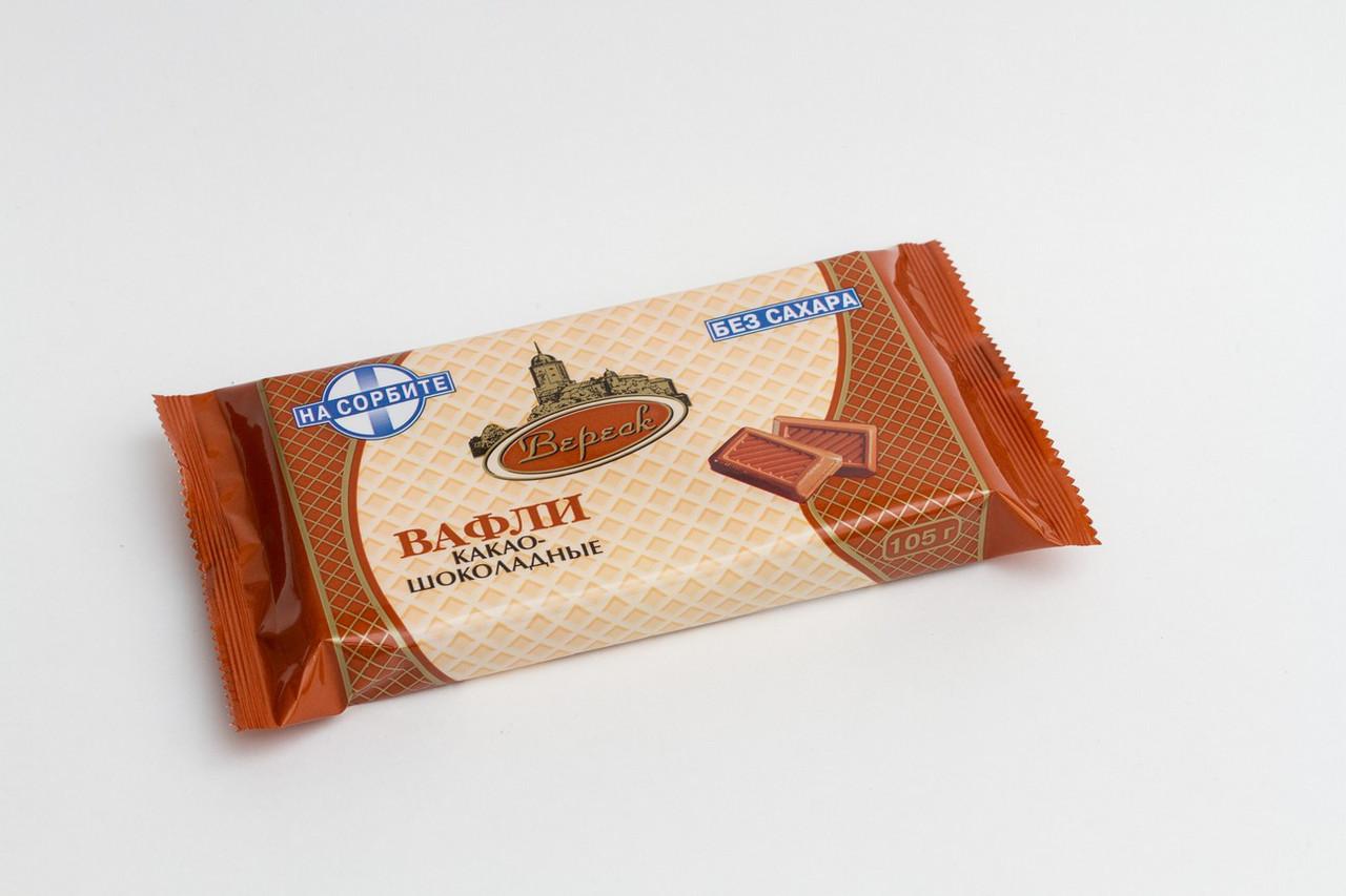 """Вафли """"Какао-шоколадные"""" на сорбите 105г."""