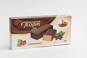 Торт глазированный на фруктозе Шоколадный 190г.