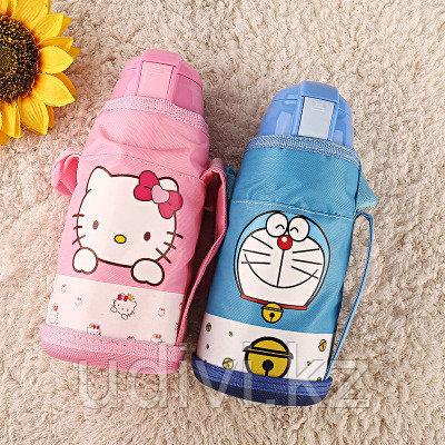 Детский термос с трубочкой и сумкой