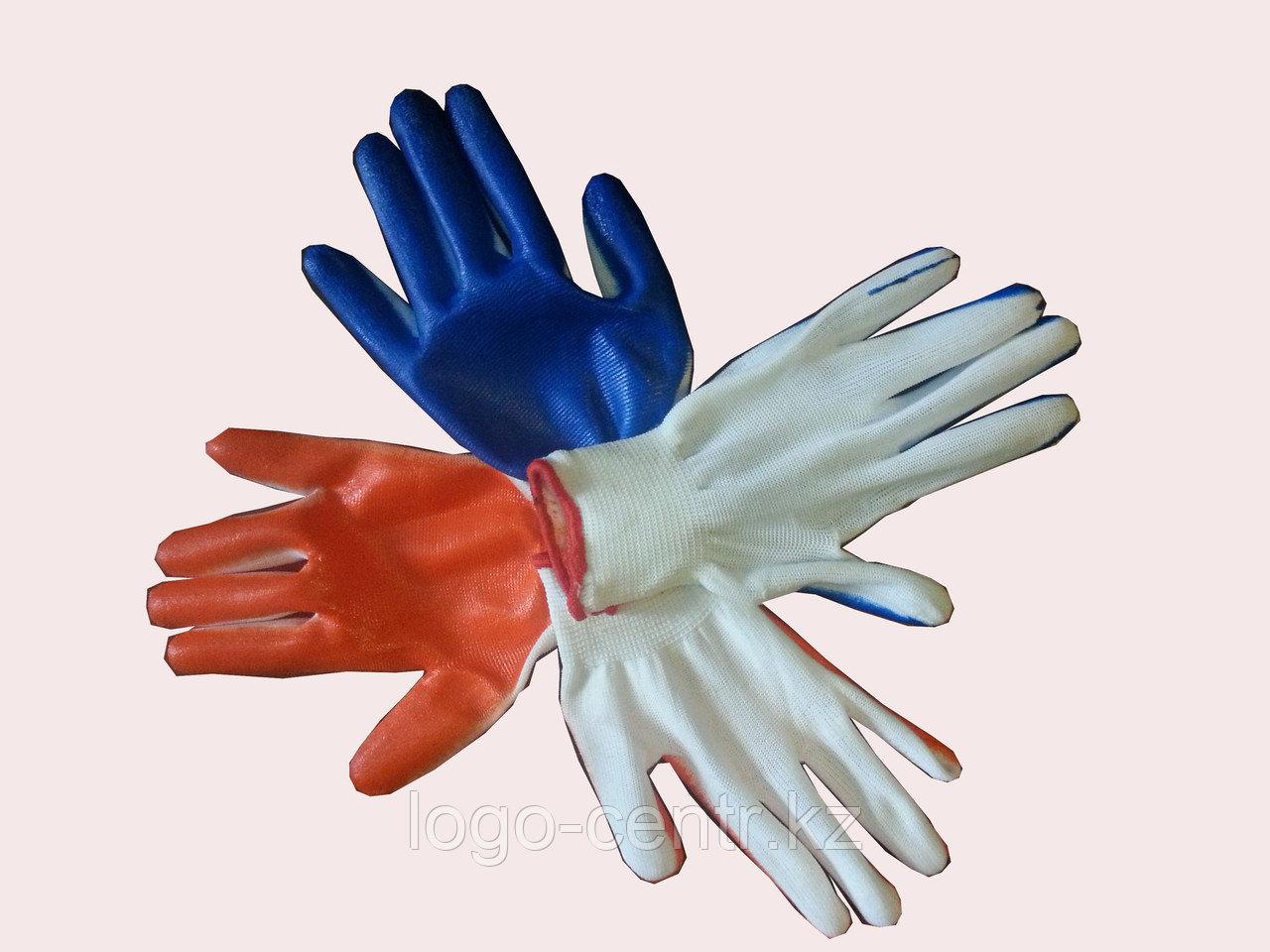 Перчатки нейлоновые с нитриловым покрытием ЛАЙТ