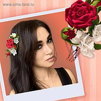 """Шпильки из фоамирана """"Красные розы"""""""