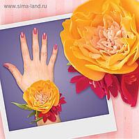 """Браслет из фоамирана своими руками """"Желтая роза"""""""