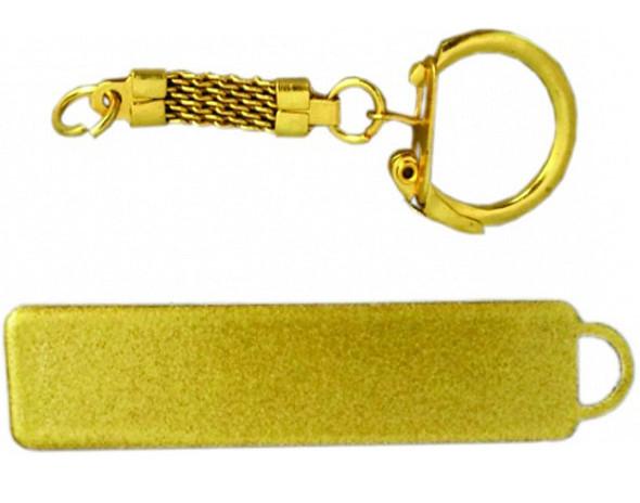 Брелок автомобильный металл 55х13 золото промо под нанесение