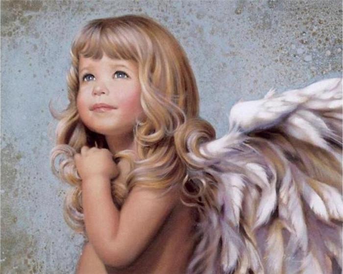"""Картины по номерам - """"Малышка-ангелочек"""""""