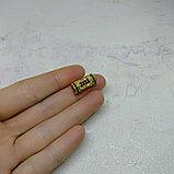 Бусина Трубочка с фианитами, 15х7мм, фото 2