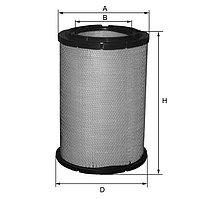 HP2629 фильтр воздушный FIL FILTER