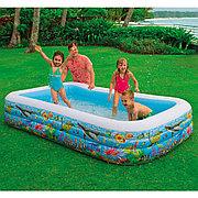 "Семейный надувной бассейн ""Морские рыбки"" 305х183х56 см, Intex 58485"