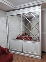 Зеркальные шкафы-купе с фацетом, фото 1