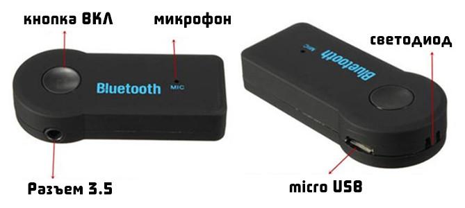 Bluetooth-адаптер | Bluetooth AUX приемник+громкая связь в авто