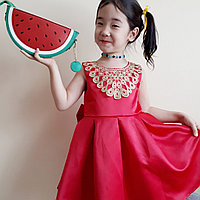 Оригинальное платье для девочки, от 4 до 10 лет, фото 1