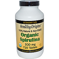 Спирулина (Organic Spirulina), 500 мг, 720 таблеток