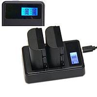 USB (Micro USB) двойное зарядное устройство для Canon LP-E6