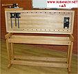 Верстак столярный деревянный 1500*500мм, с двумя тисками, без лотка, фото 6