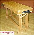 Верстак столярный деревянный 1500*500мм, с двумя тисками, без лотка, фото 7
