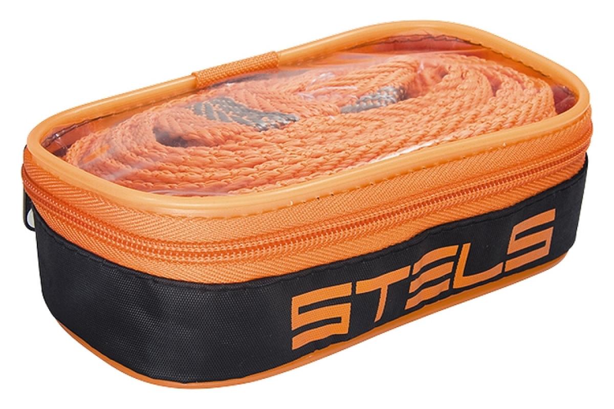 (54382)Трос буксировочный 7 тонн, 2 крюка, сумка на молнии  STELS Россия
