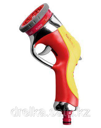 Пистолет распылитель для полива GRINDA 8-427141, 9-позиц., металлический с TPR, фото 2