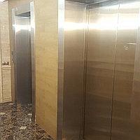 Обрамление лифтовых порталов нержавеющей сталью