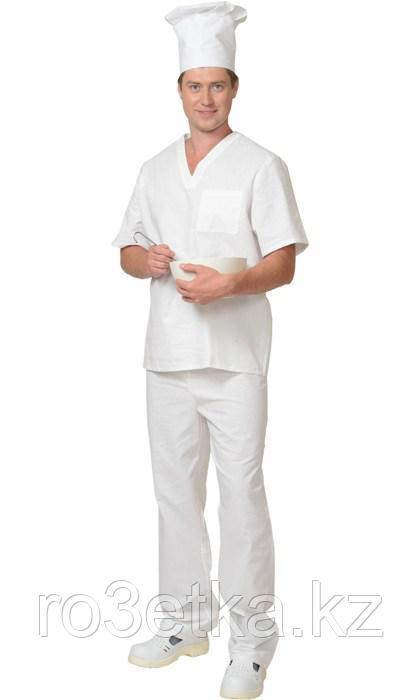 Костюм пекаря универсальный: блуза, брюки белый