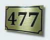 Номерки на двери металлические, золото текстурное, фото 2
