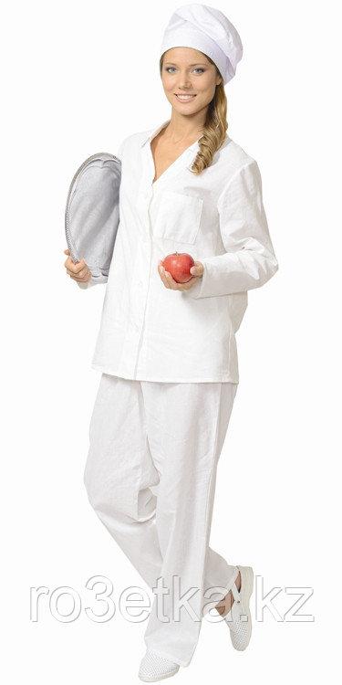 Костюм повара женский: куртка, брюки белый