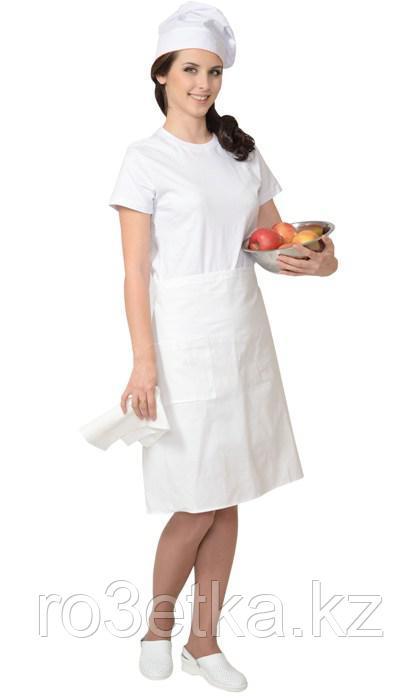 Фартук повара без грудки (бязь) белый