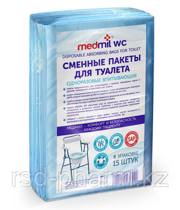 Сменные пакеты для туалета одноразовые впитывающие MEDMIL WC (15 шт в уп.), фото 2