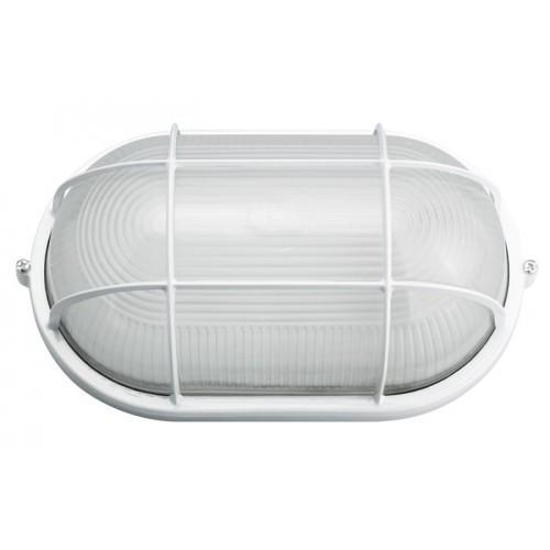 Светильник НПП 1402-60 белый/овал с решеткой
