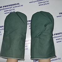 Рукавицы брезентовые с двойным брезентовым наладоником