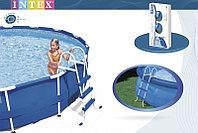 Лестница для бассейна высотой борта от 76 см до 91 см, Intex 28060