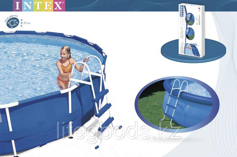 Лестница для бассейна высотой борта от 76 см до 91 см, Intex 28060 - фото 1