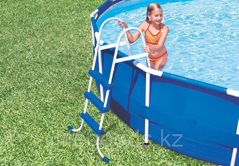 Лестница для бассейна высотой борта от 76 см до 91 см, Intex 28060 - фото 3