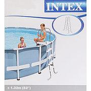 Лестница для бассейна высотой борта 132 см (с площадкой), Intex 28059