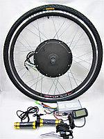 Комплект мотор колесо универсальный 1000 Ватт перед/задн для переделки в электровелосипед, фото 1