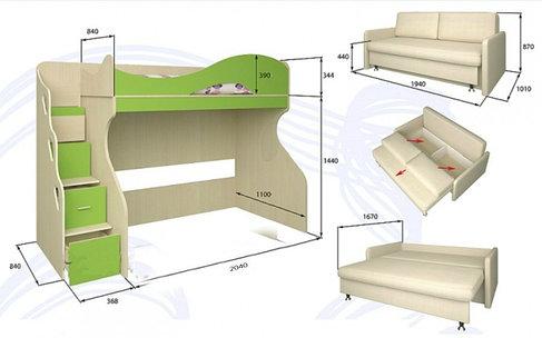 Мебель для детской комнаты в Алматы и Нур-Султан, фото 2