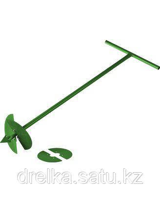 Бур садовый ручной РОСТОК 39492, со сменными ножами, 150 мм, 200 мм, длина 1000 мм
