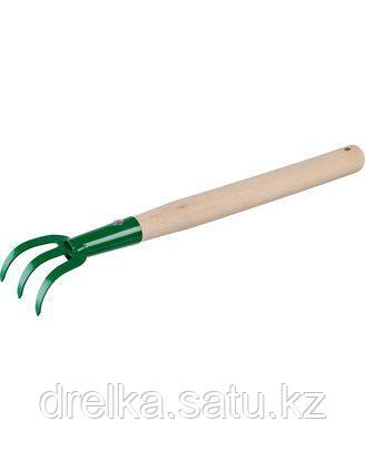 Рыхлитель РОСТОК с деревянной ручкой, 3-хзубый