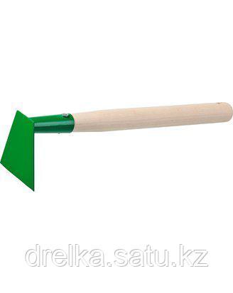 Тяпка мотыга РОСТОК 39661, с деревянной ручкой, ширина рабочей части - 100 мм