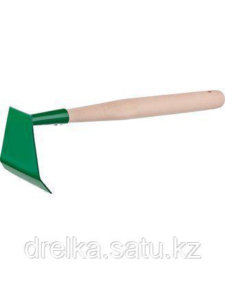 Тяпка мотыга РОСТОК 39662, малая, с деревянной ручкой, ширина рабочей части - 85 мм.