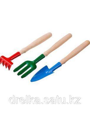 Набор садовых инструментов РОСТОК 421428-H3, для ухода за комнатными растениями с деревянными ручками, фото 2