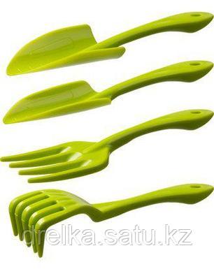 Набор садовый РОСТОК пластиковый, 4 предмета: Вилка, грабельки, 2 совка , фото 2