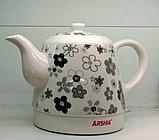 Электрический чайник Arshia в керамическом корпусе, Алматы, фото 3