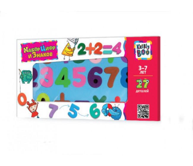 Kribly Boo Магнитный набор цифр и знаков 27 деталей