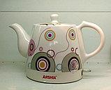Электрический чайник Arshia в керамическом корпусе, Алматы, фото 2