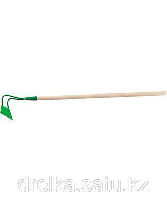 Тяпка мотыга РОСТОК 421572, широкая, с черенком, 200 х 65 мм