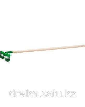 Грабли витые РОСТОК 421900-12, садовые, с черенком, 12 зубцов