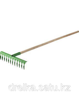 Грабли витые РОСТОК 421900-14, садовые, с черенком, 14 зубцов , фото 2