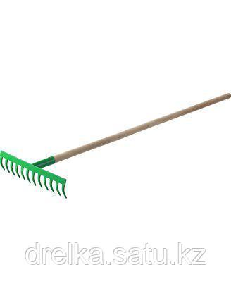 Грабли прямые РОСТОК 421901-12, садовые, с черенком, 12 зубцов