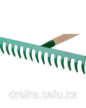 Грабли прямые РОСТОК 421901-14, садовые, с черенком, 14 зубцов , фото 2